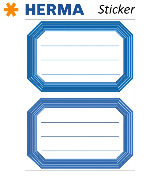 Herma 12 Adet Okul Etiketi 82x55 mm 5714