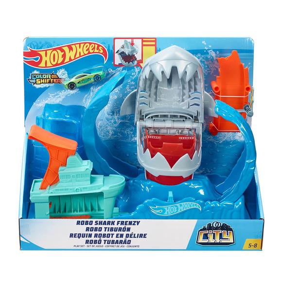 Hot Wheels Robotik Köpek Balığı Renk Değiştiren Oyun Seti GJL12
