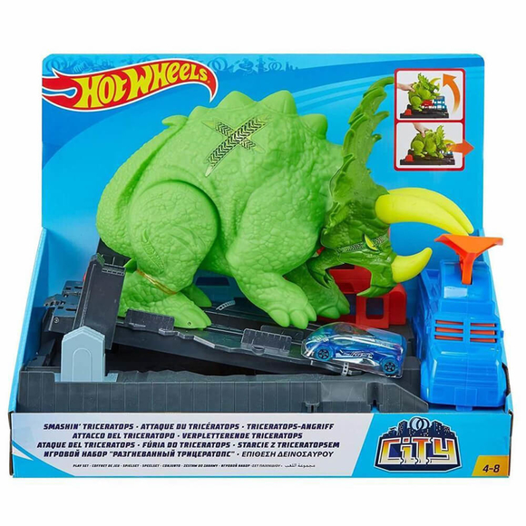 Hot Wheels Triceratops Saldırısı Oyun Seti GBF97