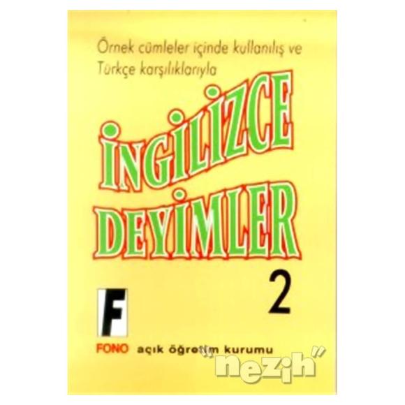 İngilizce Deyimler 2