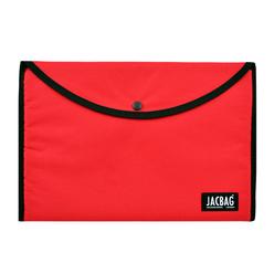 Jacbag Çıtçıtlı Kumaş Zarf Dosya A4 Kırmızı - Thumbnail