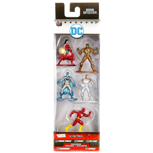 Justice League Nano Metal Figür 5'li