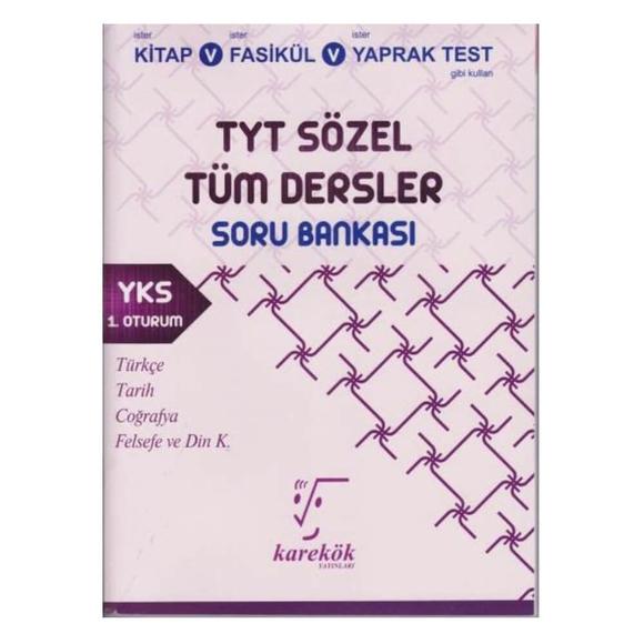 Karekök Tyt Tüm Dersler Soru Bankası(Sözel)