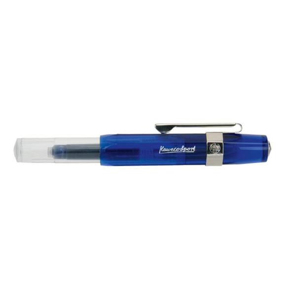 Kaweco Ice Sport Kapaksız Roller Kalem Transparan Mavi 10000084