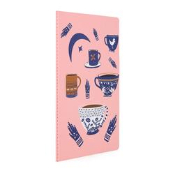 Kayansel for fulique Kahve Küçük Noktalı Defter 13x21cm - Thumbnail