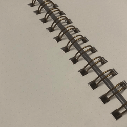 Kayansel for fulique Kuş Spiralli Noktalı Defter 14.8x21cm - Thumbnail