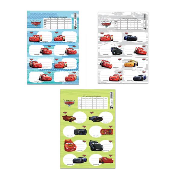 Keskin Color Cars Ders Programlı Okul Etiketi 220130-33