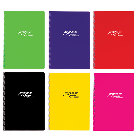 Keskin Color Free Pastel Defter PP Kapak Çizgili A4 100 Yaprak 320441-99