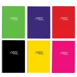 Keskin Color Free Pastel Defter PP Kapak Düz A4 80 Yaprak 320420-99 - Thumbnail