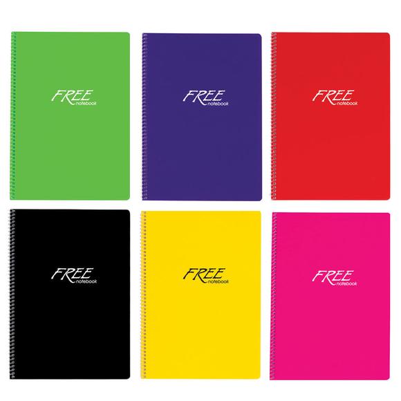 Keskin Color Free Pastel Defter PP Kapak Düz A4 80 Yaprak 320420-99