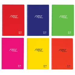 Keskin Color Free PP Kapak Dikişli Kareli Defter A4 100 Yaprak 320442-99 - Thumbnail