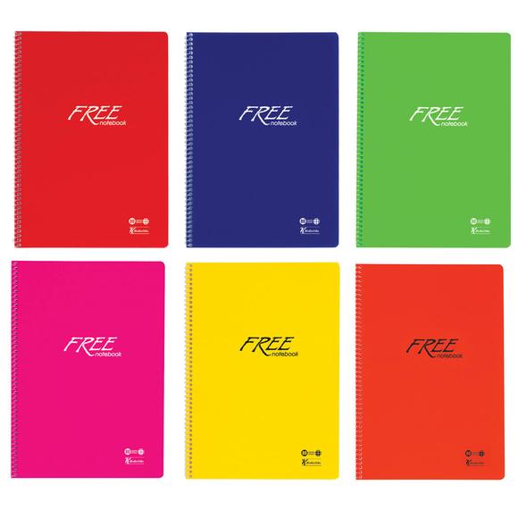 Keskin Color Free PP Kapak Dikişli Kareli Defter A4 100 Yaprak 320442-99