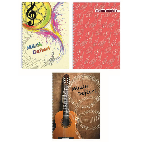 Keskin Color Müzik Defteri Spiralli PP Kapak 60 Yaprak A4 290350-99