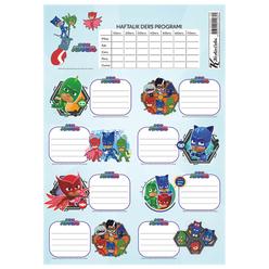 Keskin Color Pijamaskeliler Ders Programlı Okul Etiketi 220130-88 - Thumbnail