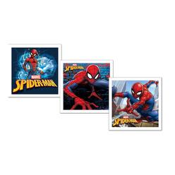 Keskin Color Spiderman Doğum Günü Kart+Zarf 10'lu 160700-06 - Thumbnail