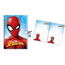 Keskin Color Spiderman Kilitli Hatıra Defteri 14x20 cm 104 Yaprak 310210-06 - Thumbnail
