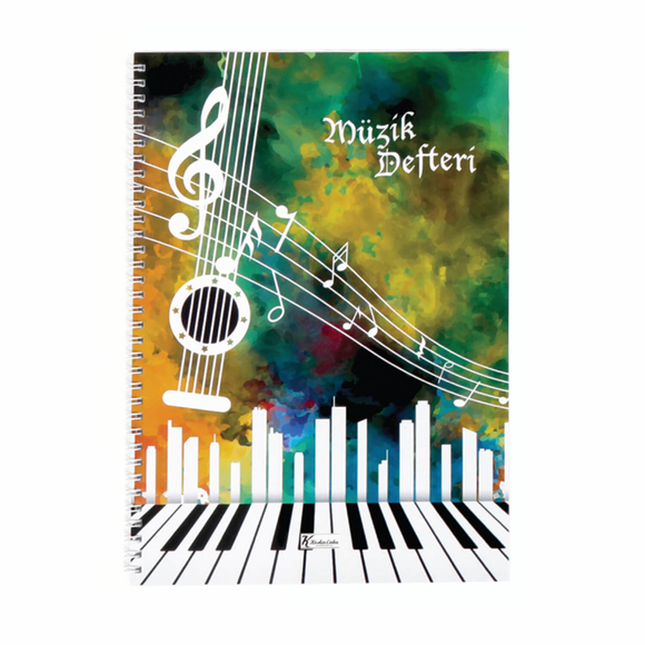 Keskin Color Spiralli Müzik Defteri A4 40 Yaprak 290300-99