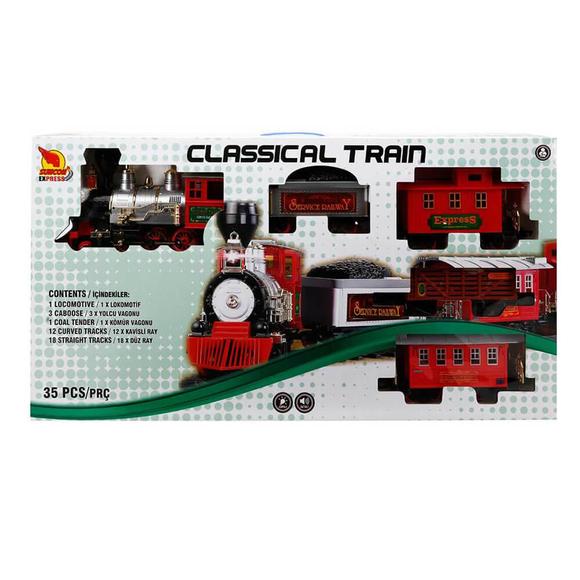 Klasik Tren Seti Sesli ve Işıklı 35 Parça S00001555