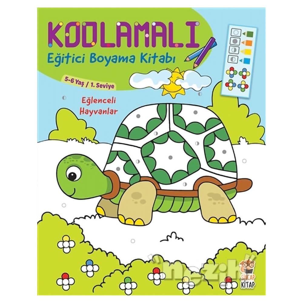 Kodlamali Egitici Boyama Kitabi Eglenceli Hayvanlar 5 6 Yas 1