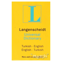 Langenscheidt's Universal Dictionary English - Turkish / Turkish - English New and Revised Edition - Thumbnail