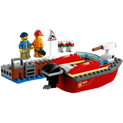 Lego City Dock Side Fire 60213 - Thumbnail