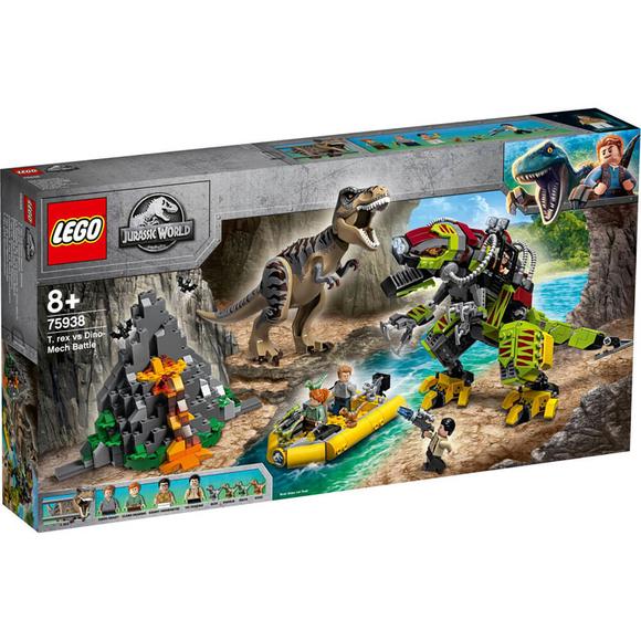 LegoJurassic World T. rex ile Dinozor Robotu Savaşı 75938