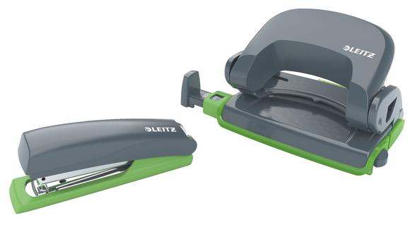 Leitz Retro Chic Zımba Makinesi ve Delgeç Set Gri Yeşil 5507-89