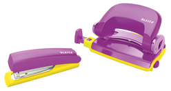 Leitz Retro Chic Zımba Makinesi ve Delgeç Set Mor Sarı 5507-65 - Thumbnail