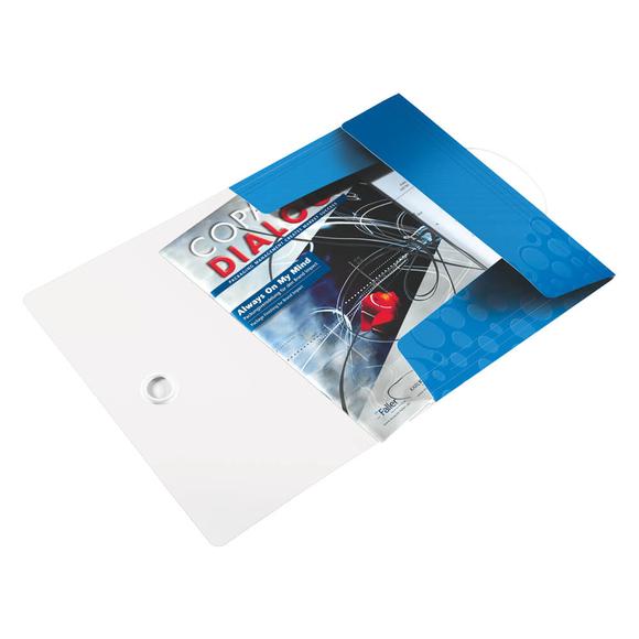 Leitz Wow İnce Lastikli Dosya Metalik Mavi 45990036