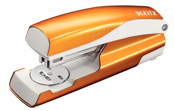 Leitz WOW Zımba Makinesi 30 Sayfa Kapasiteli Metalik Turuncu 5502-44