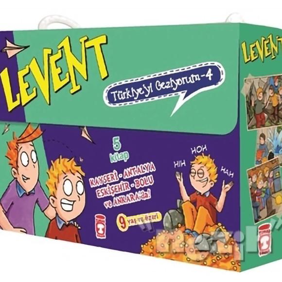 Levent Türkiye'yi Geziyorum - 4 (5 Kitap Takım)