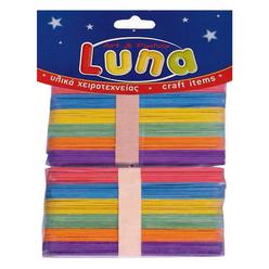 Luna Ahşap Renkli Jumbo Çubuklar 15 cm 80'li LNA0601644 - Thumbnail