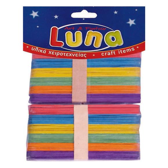 Luna Ahşap Renkli Jumbo Çubuklar 15 cm 80'li LNA0601644