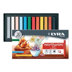 Lyra Polycrayons Soft Toz Pastel Boya 12'li L5651120 - Thumbnail