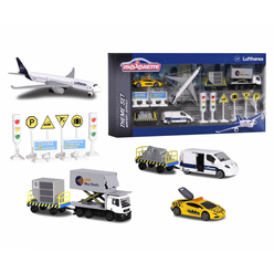 Majorette Big Airport Lufthansa Tema Seti 212057720 - Thumbnail