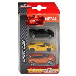 Majorette Street Cars 3'lü Araba Seti 205227 - Thumbnail