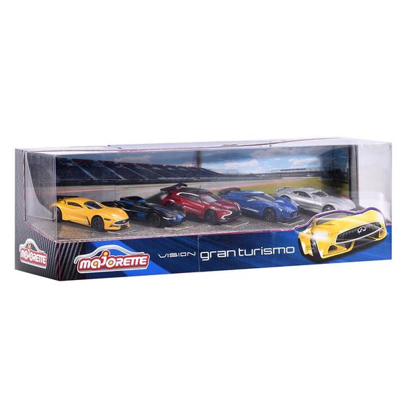 Majorette Vision Gran Turismo 5'li Araba Seti