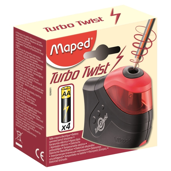 Maped Turbo Twist Pilli Kalemtıraş 026031