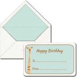 Maritera Safari Zürafa Happy Birthday Baskılı Tebrik Kartı - Thumbnail