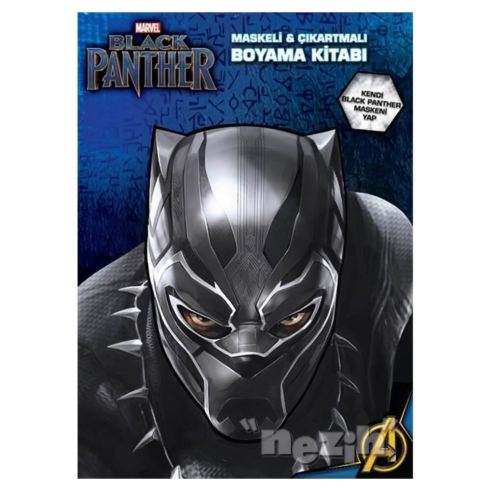 Marvel Black Panther Maskeli Ve Cikartmali Boyama Kitabi Nezih