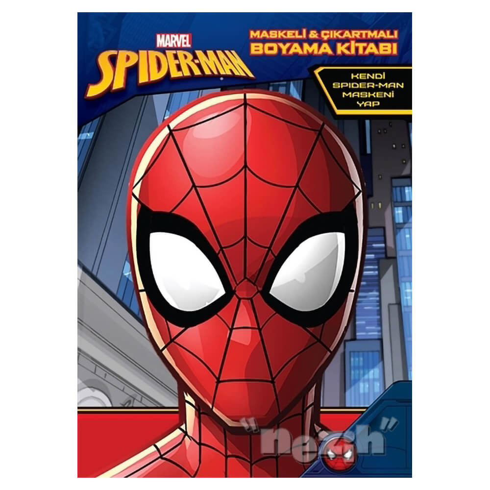 Marvel Spider Man Maskeli Ve Cikartmali Boyama Kitabi Nezih