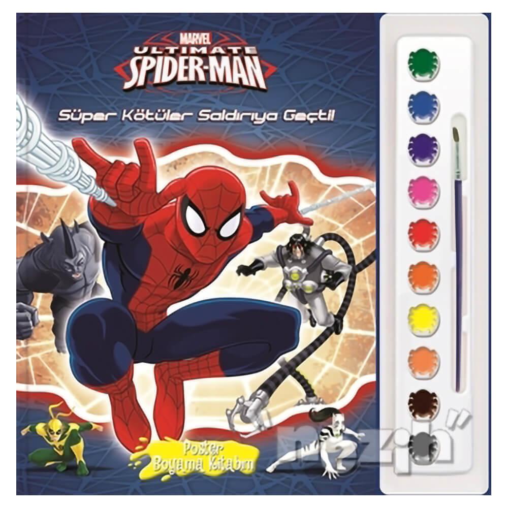 Marvel Ultimate Spider Man Poster Boyama Kitabim Nezih