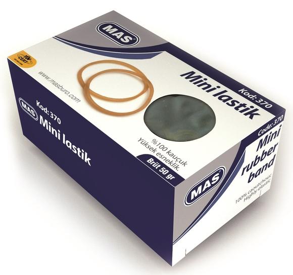 Mas 370 %100 Kauçuk Mini Ambalaj Lastiği 50 gr Kutu