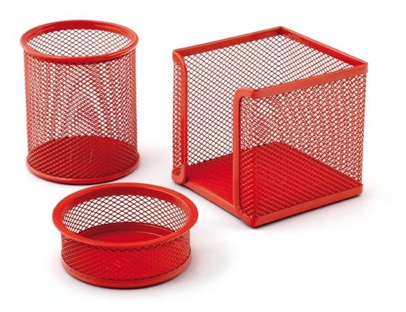 Mas 505 Metal Perforeli 3'lü Masa Seti Kırmızı