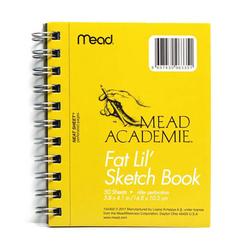 Mead Academie A6 Taslak ve Çizim Bloknot Düz 50 Yaprak Sarı - Thumbnail