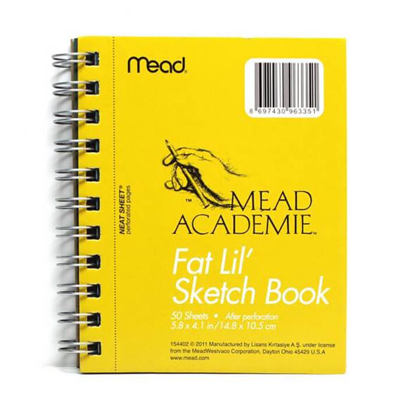 Mead Academie A6 Taslak ve Çizim Bloknot Düz 50 Yaprak Sarı