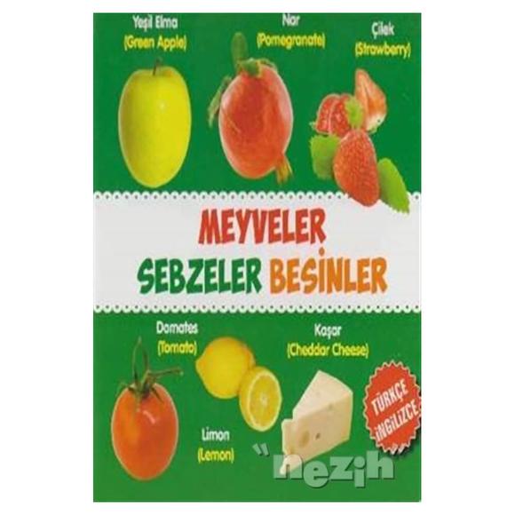 Meyveler - Sebzeler - Besinler / Türkçe-İngilizce