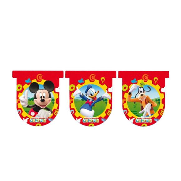 Mickey Mouse Baskılı Bayrak Seti