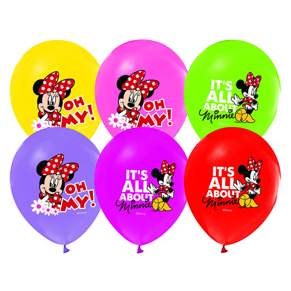 Minnie Mouse Baskılı Balon 12'li