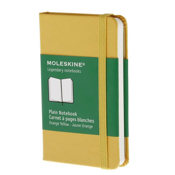 Moleskine Sert Kapak Düz Defter 6.5x10.5 cm Turuncu Sarı MP012N2